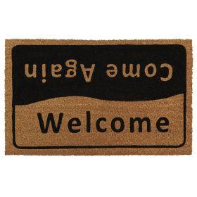 Kokosmat 'Welcome / Come again' - 50x80 cm
