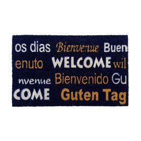 Kokosmat 'Welcome / Bienvenue / Bienvenido / Guten Tag' - 40x60 cm