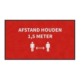 Deurmat 'Afstand houden' anderhalve meter - 85x150 cm
