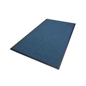 Waterhog Classic droogloopmat / schoonloopmat 115x180 cm - Rubber border - Blauw