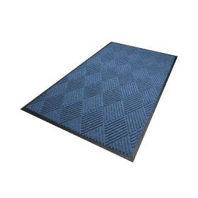Waterhog Diamond droogloopmat / schoonloopmat 115x180 cm - Rubber border - Blauw