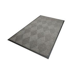 Waterhog Diamond droogloopmat / schoonloopmat 115x180 cm - Rubber border - Grijs