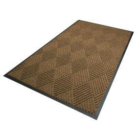 Waterhog Diamond droogloopmat / schoonloopmat 180x250 cm - Rubber border - Camel