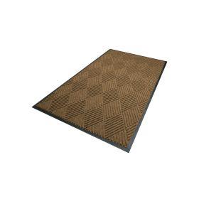 Waterhog Diamond droogloopmat / schoonloopmat 90x150 cm - Rubber border - Camel