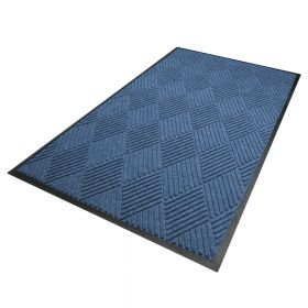 Waterhog Diamond droogloopmat / schoonloopmat 180x250 cm - Rubber border - Blauw