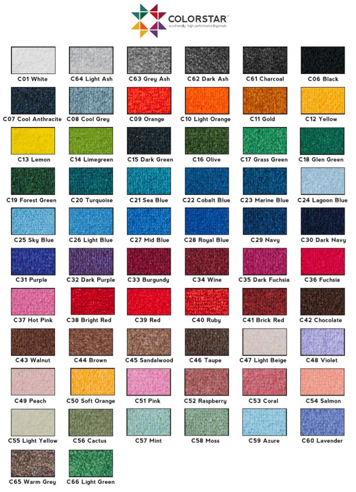 Colorstar bedrukte deurmat